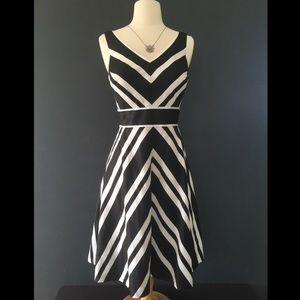 White House Black Market striped Dress sleeveless